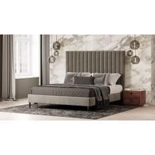 View Product - Modrest Hemlock - Modern Grey Velvet Bed