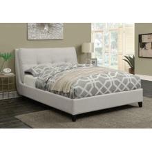 View Product - Amador Beige Upholstered Queen Platform Bed