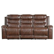 See Details - Double Reclining Sofa with Drop-Down Cup Holders, Receptacles and USB ports