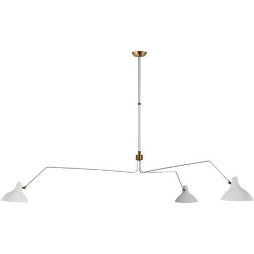 Visual Comfort - AERIN Charlton 3 Light 96 inch White Triple Arm Chandelier Ceiling Light, Grande