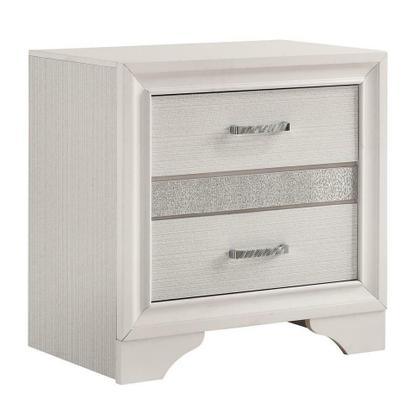 See Details - Miranda Modern Two-drawer Nightstand With Hidden Jewelry Tray