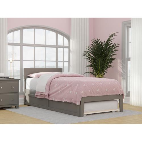 Atlantic Furniture - Boston Twin Extra Long Bed with Twin Extra Long Trundle in Grey