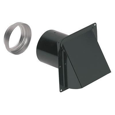 """Wall Cap, Steel, Black, for 3"""" and 4"""" round duct"""