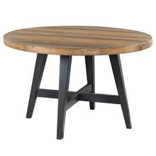 See Details - Urban Rustic Round Dining Table