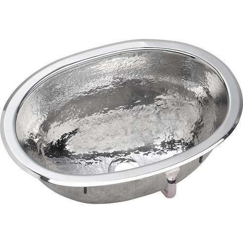 "Elkay Asana Stainless Steel 17"" x 12"" x 6-1/2"", Single Bowl Dual Mount Bathroom Sink"
