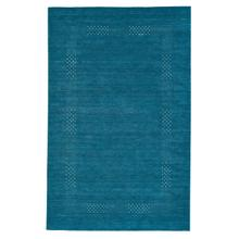 Simply Gabbeh Turquoise Hand Loomed Area Rugs