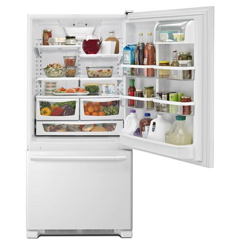 Gallery - 30-Inch Wide Bottom Mount Refrigerator - 19 Cu. Ft. White