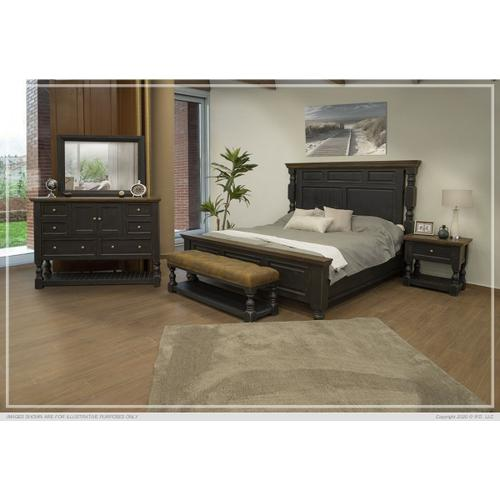 Stone Black Bedroom Collection