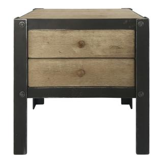 Bolt Sidetable W/2 Drawers Natural