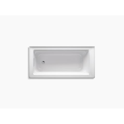 "White 66"" X 32"" Alcove Bath With Left-hand Drain"