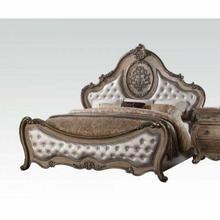 ACME Ragenardus Eastern King Bed - 26307EK - PU & Vintage Oak