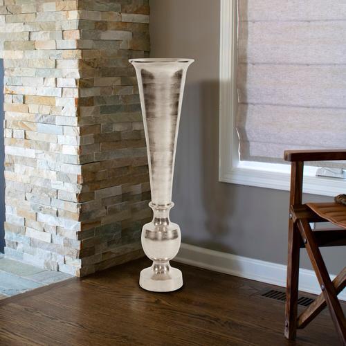 Howard Elliott - Oversized Flared Silver Aluminum Vase, Large