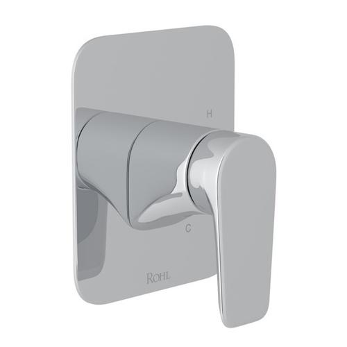 Polished Chrome Perrin & Rowe Hoxton Pressure Balance Trim Without Diverter with Hoxton Metal Lever