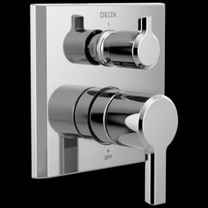 Chrome 2-Handle Monitor ® 14 Series Valve Trim with 3-Setting Diverter Product Image