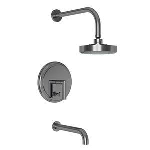 Newport Brass - Midnight Chrome Balanced Pressure Tub & Shower Trim Set