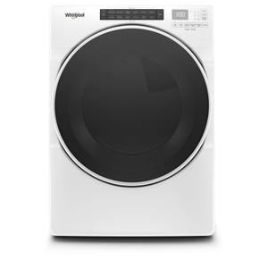 7.4 cu. ft. Front Load Gas Dryer with Steam Cycles - WHITE