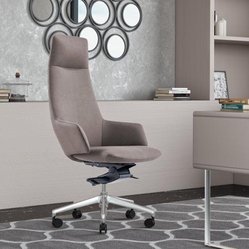 VIG Furniture - Modrest Gates - Modern Grey High Back Executive Office Chair