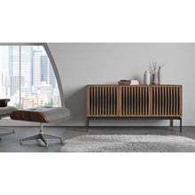 View Product - Elements 8777 Console Storage Console in Tempo Doors Natural Walnut