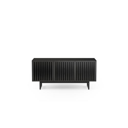 BDI Furniture - Elements 8777 Media Media Cabinet in Tempo Doors Charcoal Stained Ash