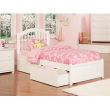 View Product - Windsor Twin XL Flat Panel Foot Board with 2 Urban Bed Drawers White