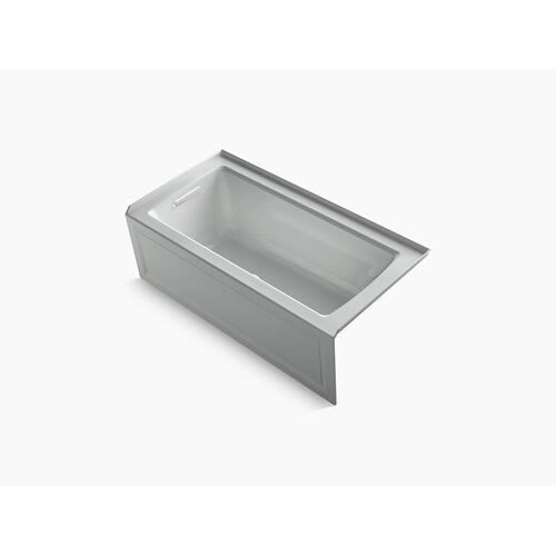 """Ice Grey 60"""" X 30"""" Integral Apron Heated Bubblemassage Air Bath With Bask Heated Surface and Left-hand Drain"""