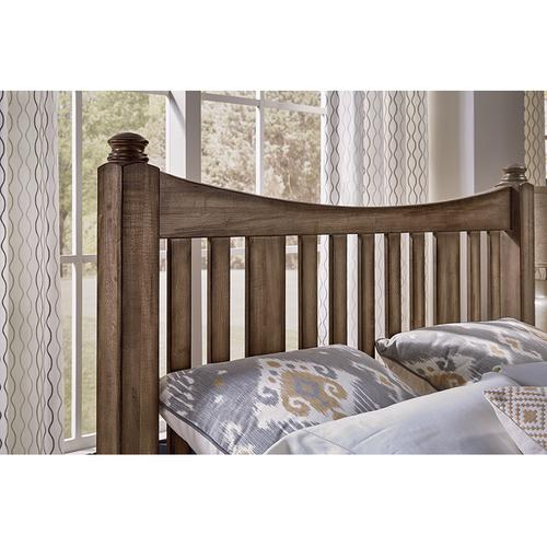 King Slat Poster Bed with Storage Footboard