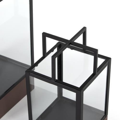 Delsin Outdoor Lantern, Set 2-black