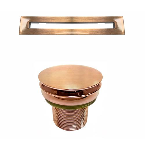 """Olmos 59"""" Acrylic Freestanding Tub with Integral Drain - Oil Rubbed Bronze Drain and Overflow / Tap Deck - 7"""" Rim Holes"""
