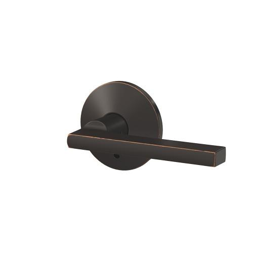 Custom Latitude Lever with Kinsler Trim Hall-Closet and Bed-Bath Lock - Aged Bronze