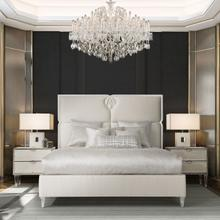 Queen Upholstered Quad Panel Bed (3 Pc)