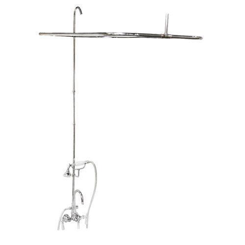 "Tub/Shower Converto Unit - 48"" Rod for Cast Iron Tub - Polished Chrome"