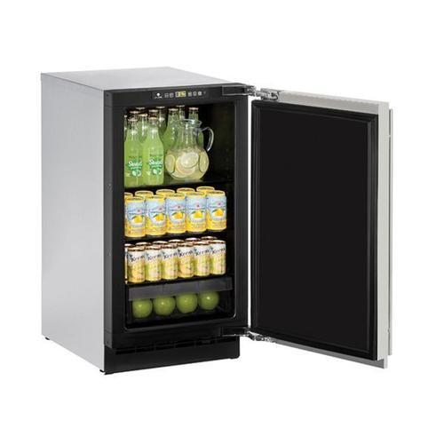 "U-Line - 2218r 18"" Refrigerator With Stainless Solid Finish (115 V/60 Hz Volts /60 Hz Hz)"