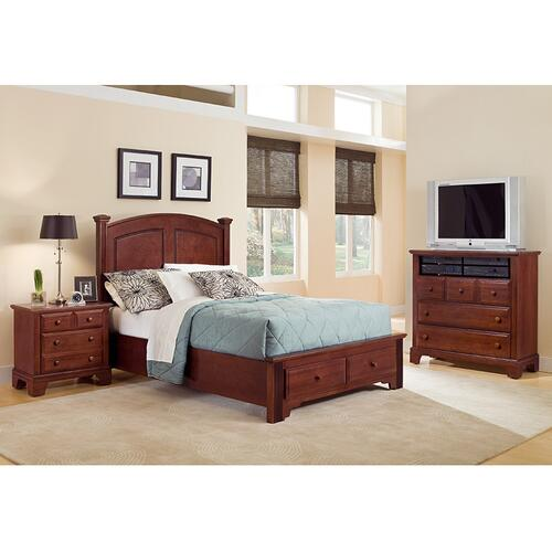 Panel Bed with Storage Footboard Queen & King