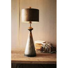 See Details - table lamp with metal bases and shade