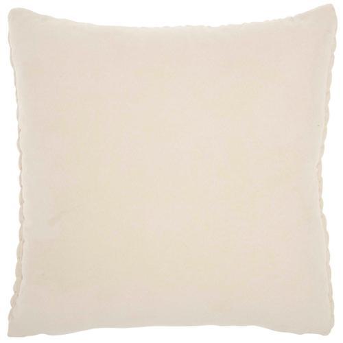"Life Styles Et299 Ivory 18"" X 18"" Throw Pillow"