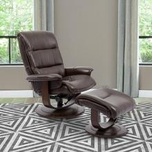 See Details - KNIGHT - ROBUST Manual Reclining Swivel Chair and Ottoman