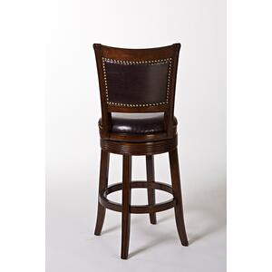 Lockefield Swivel Bar Height Stool, Brown Cherry