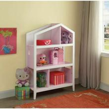 ACME Doll Cottage Bookcase - 92560 - White & Pink