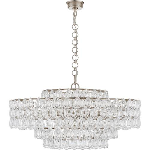 AERIN Liscia 12 Light 36 inch Burnished Silver Leaf Chandelier Ceiling Light, Large