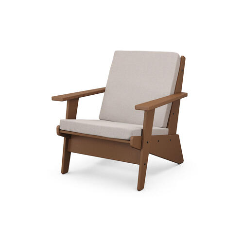Teak & Dune Burlap Riviera Modern Lounge Chair