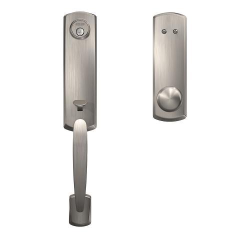 Custom Greenwich 3/4 Trim Inactive Handleset with Plymouth Knob - Satin Nickel