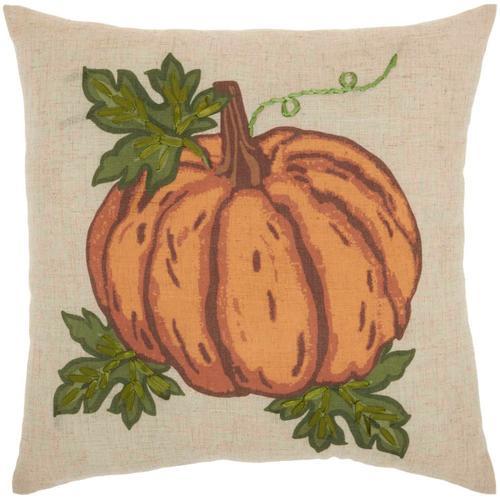 "Holiday Pillows L9303 Natural 18"" X 18"" Throw Pillow"