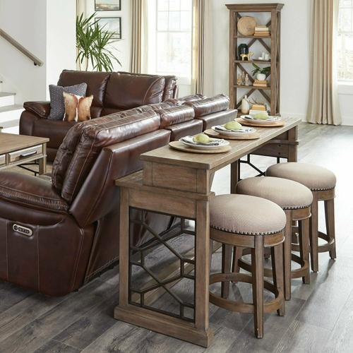 Parker House - SUNDANCE - SANDSTONE Everywhere Console with 3 Stools