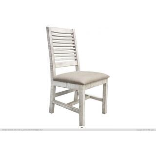 See Details - Chair w/Ivory finish & Fabric Seat