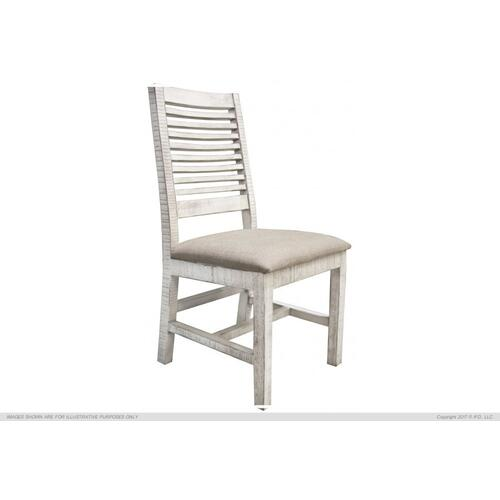 Chair w/Ivory finish & Fabric Seat