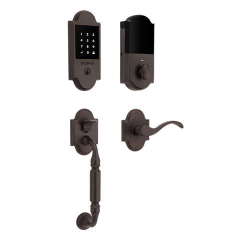 Baldwin - Venetian Bronze Canterbury Touchscreen Z-Wave Smart Lock Handleset