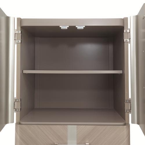 Amini - Swivel Chiffonier Lingerie Chest- Living Room Storage Cabinet