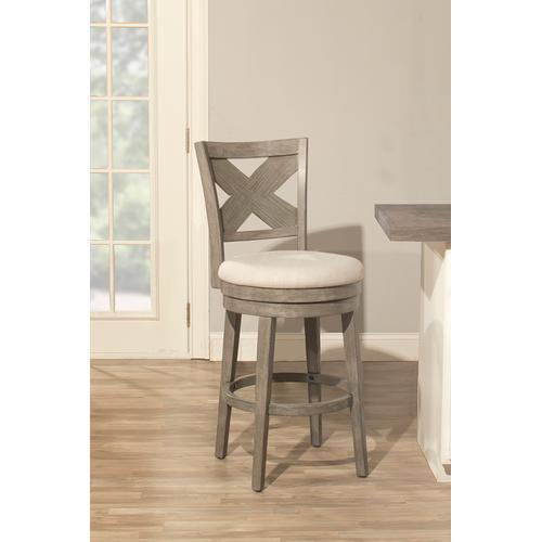 Sunhill Wood Swivel Bar Height Stool, Weathered Gray