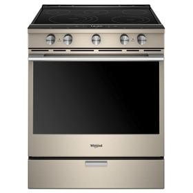 6.4 cu. ft. Smart Slide-in Electric Range with Scan-to-Cook Technology Fingerprint Resistant Sunset Bronze