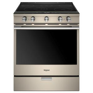 Whirlpool6.4 cu. ft. Smart Slide-in Electric Range with Scan-to-Cook Technology Fingerprint Resistant Sunset Bronze